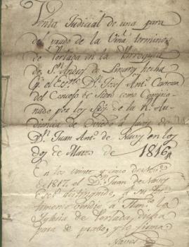 Documento de venta de la Iglesia de Perlada