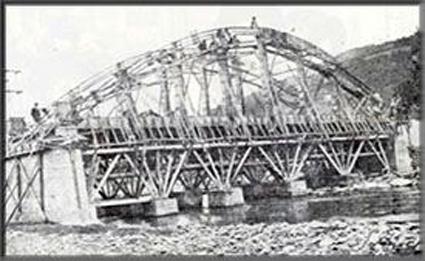 Construcción del nuevo puente de La Oscura  1928