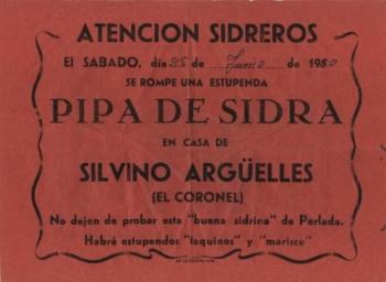 Publicidad de espicha 1950