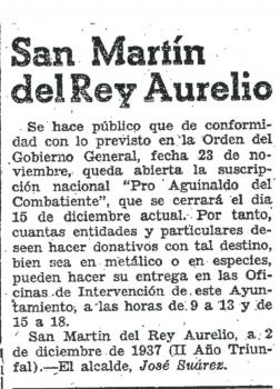 """""""La Nueva España"""", 12 de Diciembre de 1937"""