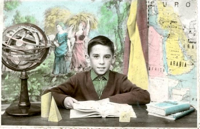 Escuela de Los Frailes, El Entrego 1954