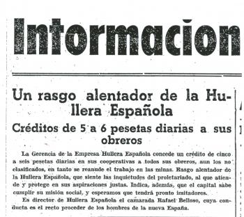 """""""La Nueva España"""", 12 de Noviembre de 1937"""