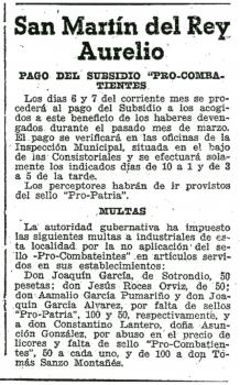 """""""La Nueva España"""", 05 de Abril de 1938"""