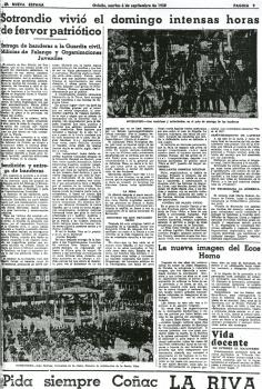 """""""La Nueva España"""", 6 de septiembre de 1938"""
