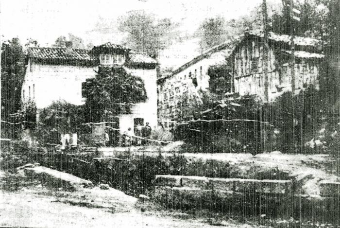 Un rincón de El Entrego, 1927